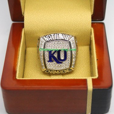 2008 Kansas Jayhawks Ncaa Basketball Championship Ring