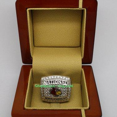 2013 Louisville Cardinals Ncaa Basketball Championship Ring