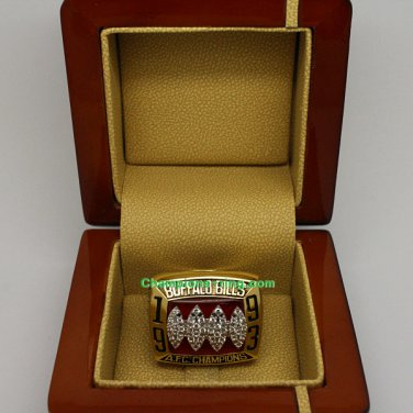 1993 Buffalo Bills AFC American Football Championship Ring