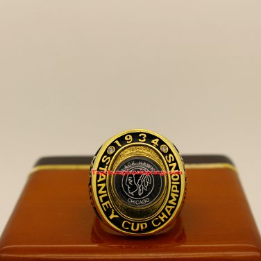 1934 Chicago Blackhawks NHL Stanley Cup Hockey Championship Ring