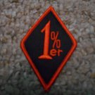 Black & Orange 1%er Embroidered Biker Patch