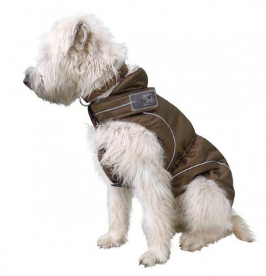"On Sale: (M/L) Warm K9 Winter Jacket w/ Fleece Lining, 17.5"", Brown"