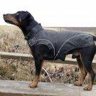 """On Sale: (XXL) Warm Dog Winter Jacket w/ Fleece Lining 23-1/4"""", Black"""