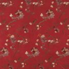 Burgundy Ivory Green Copper Suede Upholstery Fabric By The Yard Floral Leaves Pattern B116
