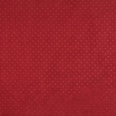 Burgundy Suede Upholstery Fabric By The Yard | Embroidered Dots | Pattern #: B148
