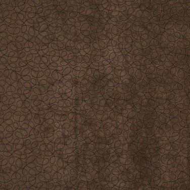 "54"""" B361 Brown, Abstract Curls Microfiber Upholstery Fabric By The Yard"