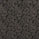"B624 Black, Floral Leaf Jacquard Woven Upholstery Fabric By The Yard | 54"""" Wide"