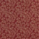 """B625 Red, Floral Leaf Jacquard Woven Upholstery Fabric By The Yard 