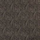 "B633 Black, Traditional Paisley Jacquard Woven Upholstery Fabric By The Yard | 54"""" Wide"