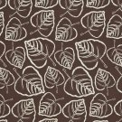 """54"""""""" D653 Brown, Leafy Scotchgarded Outdoor Indoor Marine Fabric By The Yard"""