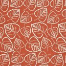 "54"""" D656 Dark Orange, Leafy Scotchgarded Outdoor Indoor Marine Fabric By The Yard"