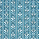 "54"""" D677 Aqua Blue, Striped Scotchgarded Outdoor Indoor Marine Fabric By The Yard"