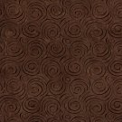 """54"""""""" D829 Dark Brown, Abstract Swirl Microfiber Upholstery Fabric By The Yard"""