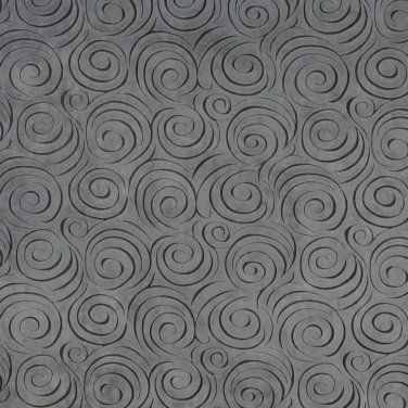 "54"""" D832 Grey, Abstract Swirl Microfiber Upholstery Fabric By The Yard"