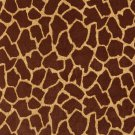 "54"""" E404 Brown, Giraffe, Animal Print Microfiber Upholstery Fabric By The Yard"