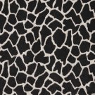 "54"""" E405 Black And White, Giraffe, Animal Print Microfiber Upholstery Fabric By The Yard"