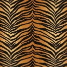 "54"""" E408 Gold And Black, Tiger, Animal Print Microfiber Upholstery Fabric By The Yard"