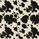 "54"""" E414 Black And White, Cow, Animal Print Microfiber Upholstery Fabric By The Yard"