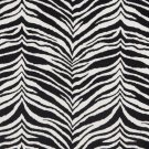 "54"""" E415 Black And White, Zebra, Animal Print Microfiber Upholstery Fabric By The Yard"