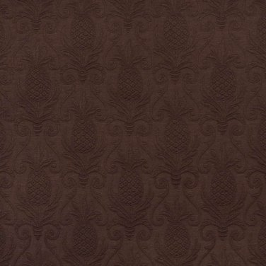 "54"""" E520 Brown, Pineapple Jacquard Woven Upholstery Grade Fabric By The Yard"