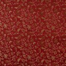 """54"""""""" E619, Floral Red, Gold And Green Damask Upholstery And Window Treatment Fabric By The Yard"""
