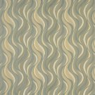 """54"""""""" Wide F308 Green, Blue And Yellow, Wavy Contemporary Upholstery Grade Fabric By The Yard"""