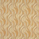 """54"""""""" Wide F309 Orange, Ivory And Gold, Wavy Contemporary Upholstery Grade Fabric By The Yard"""