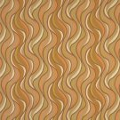"""54"""""""" Wide F313 Orange, Green And Ivory, Wavy Contemporary Upholstery Grade Fabric By The Yard"""