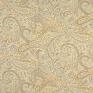 """54"""""""" Wide F325 Gold, Blue And Bronze, Paisley Contemporary Upholstery Grade Fabric By The Yard"""