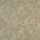 "54"""" Wide F327 Brown, Blue And Green, Paisley Contemporary Upholstery Grade Fabric By The Yard"