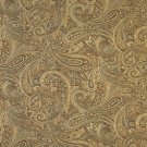 "54"""" Wide F330 Brown, Gold And Blue, Paisley Contemporary Upholstery Grade Fabric By The Yard"