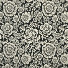 """F400-B Black And Beige Floral Matelasse Reversible Upholstery Fabric By The Yard 