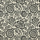"""F400 Black And Beige Floral Matelasse Reversible Upholstery Fabric By The Yard 