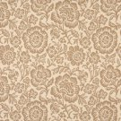 """F401 Beige And Tan Floral Matelasse Reversible Upholstery Fabric By The Yard   Width: 54"""""""""""