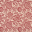 """F408 Red And Beige Floral Matelasse Reversible Upholstery Fabric By The Yard 