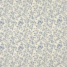 """F414 Blue And Beige Floral Matelasse Reversible Upholstery Fabric By The Yard   Width: 54"""""""""""