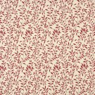 """F415 Red And Beige Floral Matelasse Reversible Upholstery Fabric By The Yard   Width: 54"""""""""""