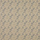 "54"""" F702 Beige Blue Leaf Floral Heavy Duty Crypton Commercial Grade Upholstery Fabric By The Yard"