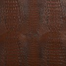 "54"""" G034 Sienna Brown, Crocodile Faux Leather Vinyl By The Yard"