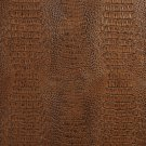 "54"""" G036 Brown, Crocodile Faux Leather Vinyl By The Yard"