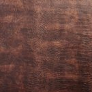"54"""" G044 Sienna Brown, Metallic Alligator Faux Leather Vinyl By The Yard"