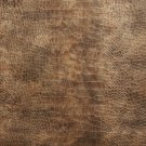 "54"""" G046 Bronze Brown, Metallic Alligator Faux Leather Vinyl By The Yard"