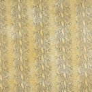 """54"""""""" G051 Yellow, Snake Skin Textured Faux Leather Vinyl By The Yard"""
