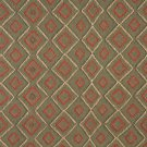 J747 Southwest Style Diamond Upholstery Fabric | Green, Beige And Red, Upholstery Fabric By The Yard