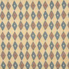 J752 Southwest Style Diamond Upholstery Fabric | Beige Blue Salmon Upholstery Fabric By The Yard