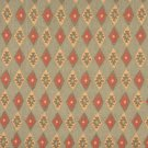 J753 Southwest Style Diamond Upholstery Fabric | Green, Gold And Red, Upholstery Fabric By The Yard
