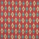 J754 Southwest Style Diamond Upholstery Fabric | Red, Blue And Beige, Upholstery Fabric By The Yard