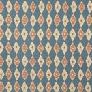 J755 Southwest Style Diamond Upholstery Fabric | Blue Salmon Beige Upholstery Fabric By The Yard