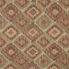J764 Southwest Style Diamond Upholstery Fabric | Green, Gold And Red, Upholstery Fabric By The Yard