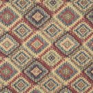 J765 Southwest Style Diamond Upholstery Fabric | Blue Beige Red Green Upholstery Fabric By The Yard